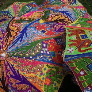 Parasol met een kleurtje